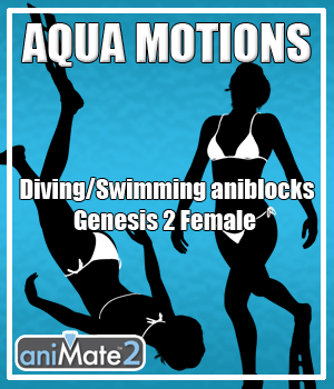 Aqua Motions for G2F 3D Figure Assets AnyMatter