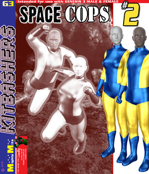 Space Cops 002 MMG3 3D Figure Assets MightyMite