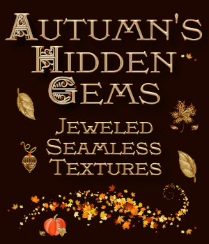 Autumn Hidden Gems Texture Pack 2D Graphics Merchant Resources fractalartist01