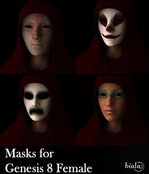 Masks for Genesis 8 Female 3D Figure Assets biala