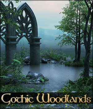 Gothic Woodlands Backgrounds 2D Graphics Sveva