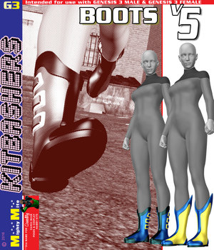 Boots V005 MMKBG3F 3D Figure Assets MightyMite