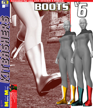 Boots V006 MMKBG3F 3D Figure Assets MightyMite