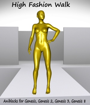 High Fashion Walk 3D Figure Assets LifeMotion