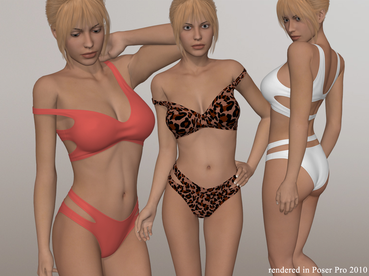 Two Piece Bikini I for V4A4G4S4Elite and Poser