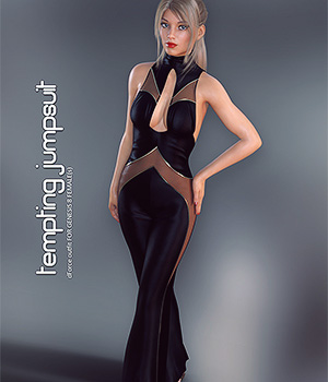 dForce Tempting Jumpsuit for Genesis 8 Females 3D Figure Assets lilflame