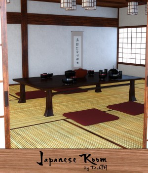 Traditional Japanese Room for Iray 3D Models DubTH