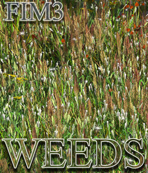 Flinks Instant Meadow 3 - Weeds 3D Models Flink
