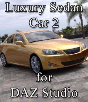Luxury Sedan Car 2 for DAZ Studio 3D Models VanishingPoint