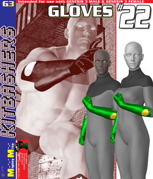 Gloves 022 MMKBG3 3D Figure Assets MightyMite