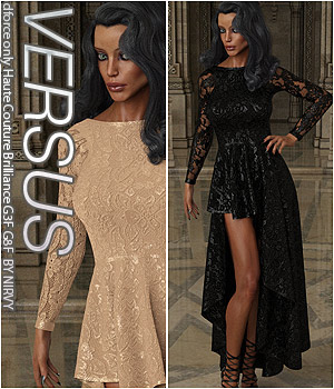 VERSUS - dforce only Haute Couture Brilliance G3F G8F 3D Figure Assets Anagord