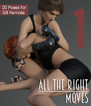 ALL THE RIGHT MOVES vol.1 for Genesis 8 Female 3D Figure Assets PainMD