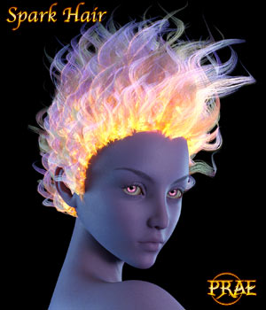 Prae-Spark Hair For G3/G8 Daz 3D Figure Assets prae