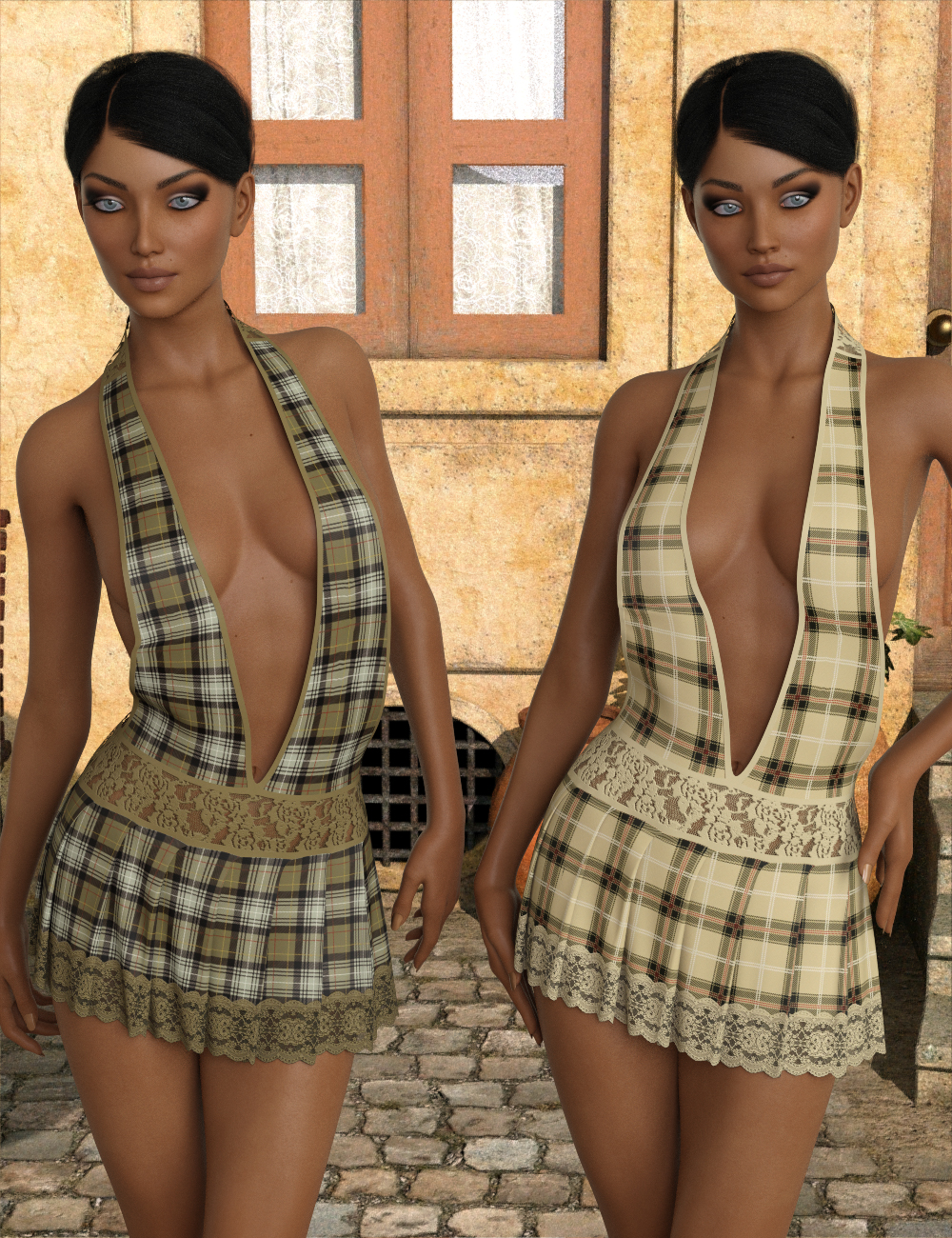 InStyle - JMR dForce Day Dreamer Short Dress for G3F and G8F by -Valkyrie-