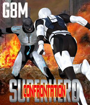 SuperHero Confrontation for G8M Volume 1 3D Figure Assets GriffinFX
