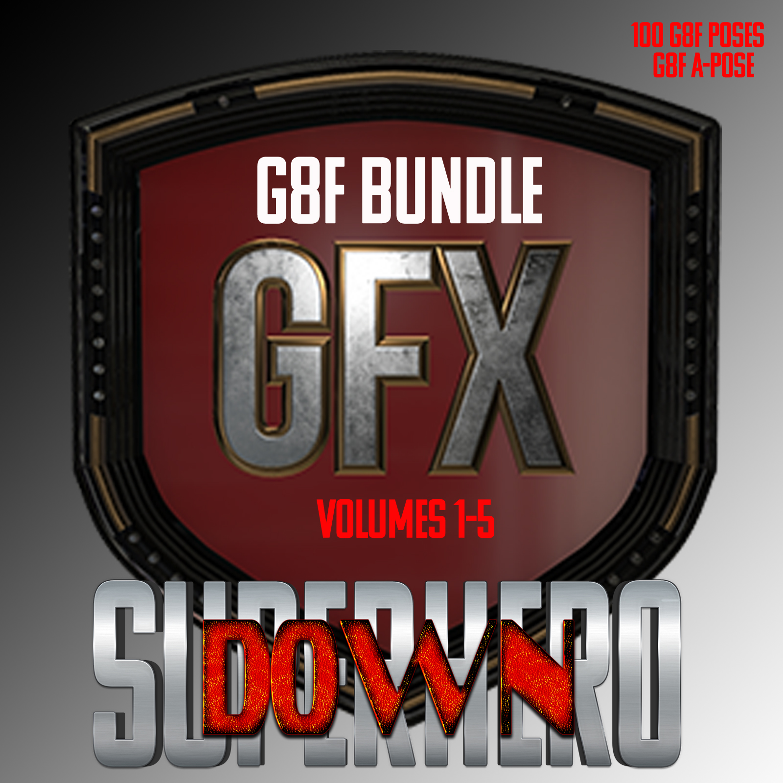 SuperHero Down Bundle for G8F by GriffinFX