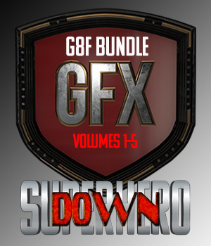 SuperHero Down Bundle for G8F 3D Figure Assets GriffinFX