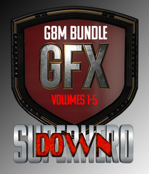 SuperHero Down Bundle for G8M 3D Figure Assets GriffinFX