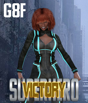SuperHero Victory for G8F Volume 1 3D Figure Assets GriffinFX