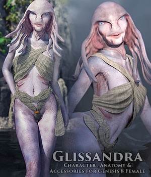 Glissandra Female Glissandi Character, anatomy and clothing for Genesis 8 Female 3D Figure Assets sixus1