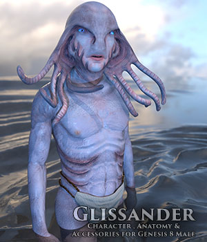 Glissander Male Glissandi Character, anatomy and clothing for Genesis 8 Male 3D Figure Assets sixus1