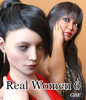 Real Women 6 for G8F 3D Figure Assets AliveSheCried