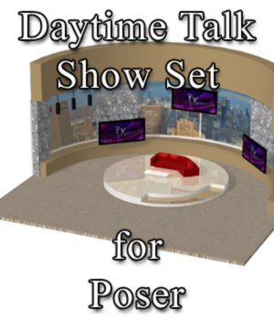 Daytime TV Talk Show Set - for Poser 3D Models VanishingPoint