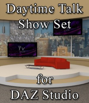 Daytime TV Talk Show Set - for DAZ Studio  3D Models VanishingPoint