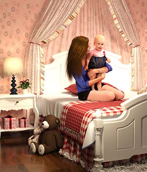 Little Princess's Bedroom 3D Models Alibama