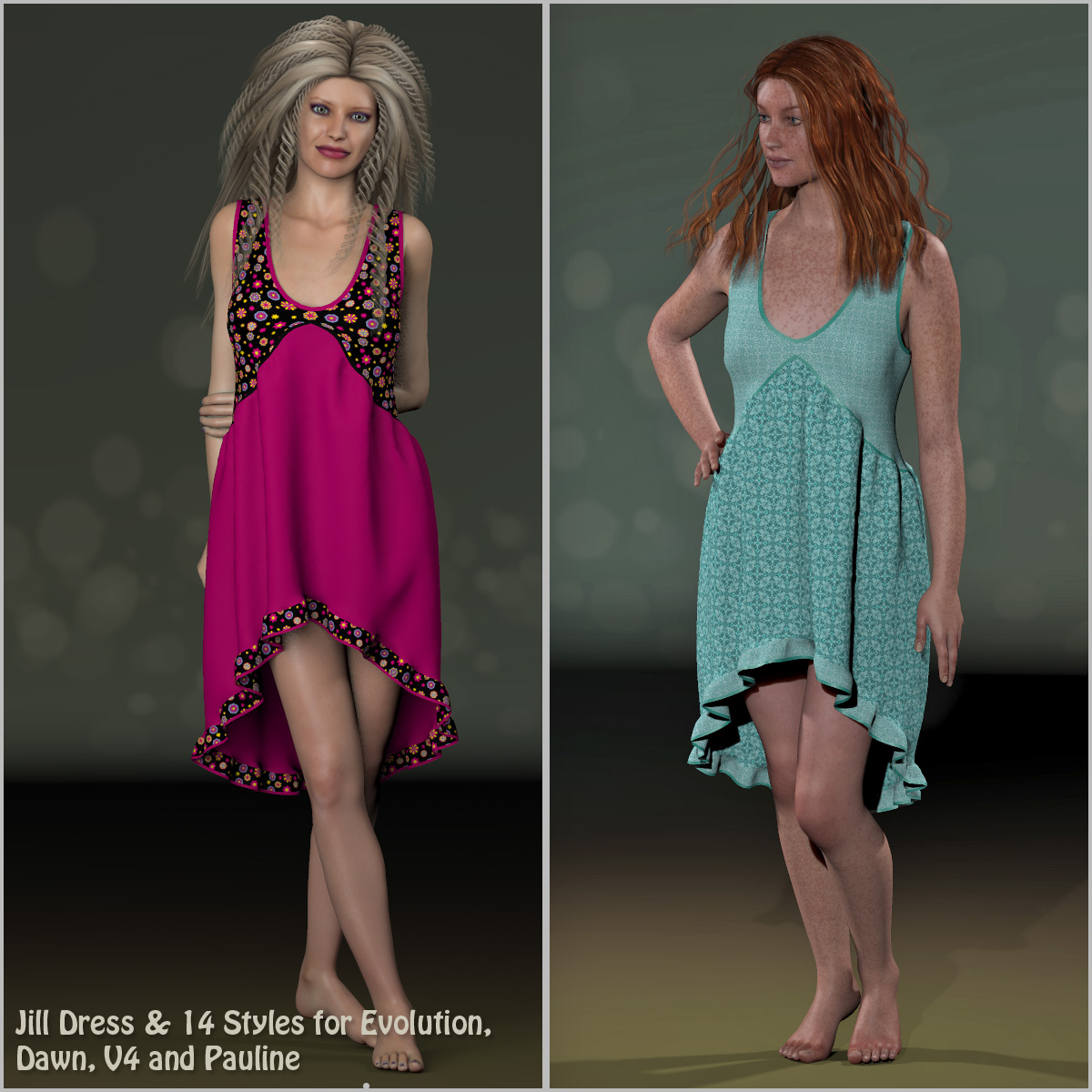 Jill Dress and 14 Styles for Evolution, V4, Dawn and Pauline