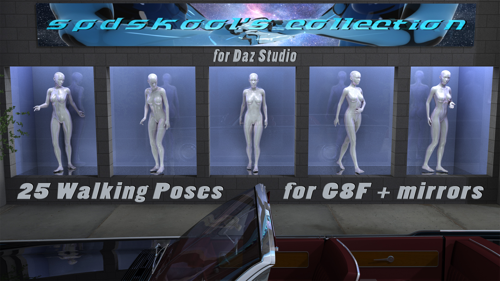 25 Walking Poses for G8F by spdskool