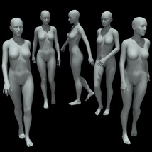 25 Walking Poses for G8F image 1