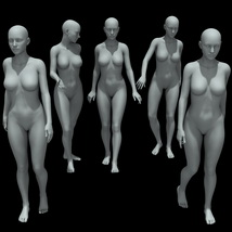 25 Walking Poses for G8F image 2