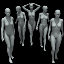 25 Walking Poses for G8F image 4