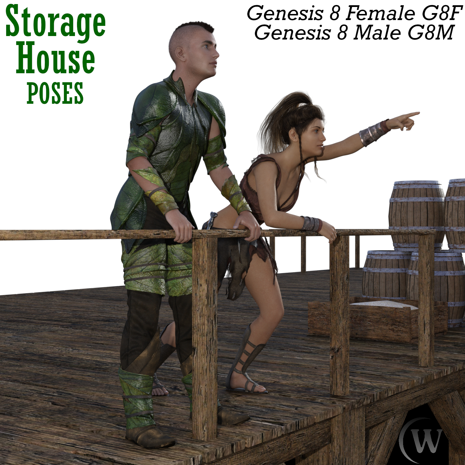 STORAGE HOUSE Poses for Genesis 8 Female and Genesis 8 Male