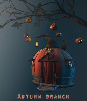 Autumn branch 3D Models 1971s