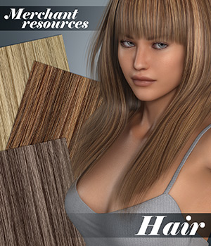 MR - Hair 2D Graphics Merchant Resources Atenais