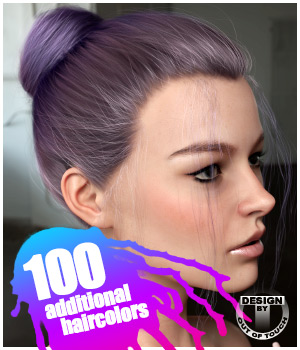 Daily Bun Hair Texture XPansion 3D Figure Assets outoftouch