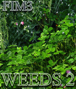 Flinks Instant Meadow 3 - Weeds 2 3D Models Flink
