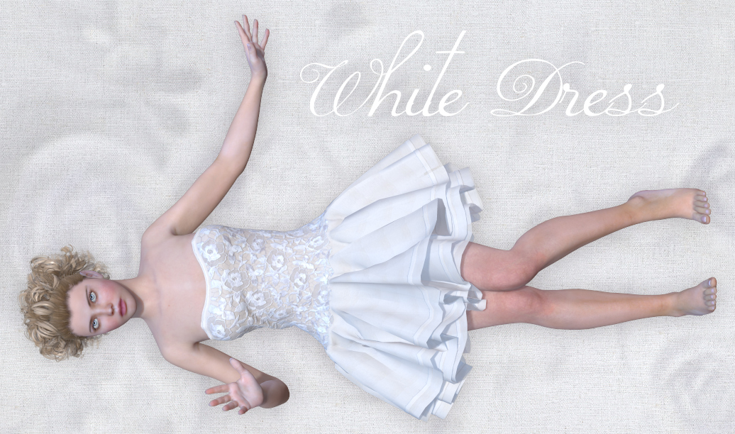 White Dress for V4 and Poser by Tipol