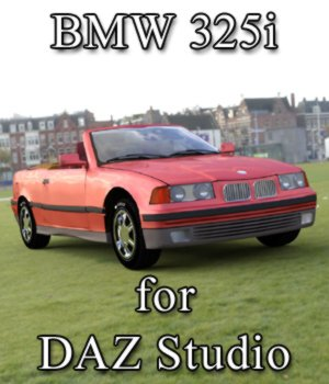 BMW 325i for DAZ Studio 3D Models Digimation_ModelBank