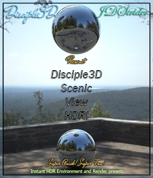 Disciple3d - Scenic View HDRI 3D Lighting : Cameras jdstrider