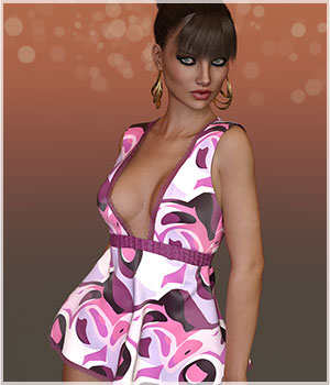 Feminine For Flowy Sheer Top 3D Figure Assets Belladzines