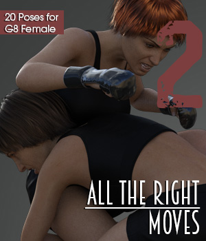 ALL THE RIGHT MOVES vol.2 for Genesis 8 Female 3D Figure Assets PainMD