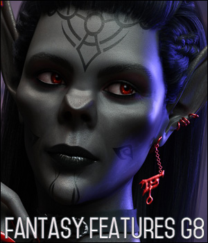 TMLI Fantasy Features for Genesis 8 Females 3D Figure Assets TwiztedMetal