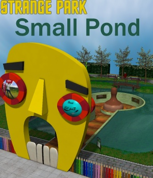 Strange Park - Small Pond 3D Models greenpots