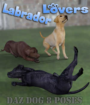 LABRADOR Lovers Poses for Labrador Breed  3D Figure Assets Winterbrose