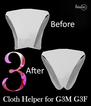 Cloth Helper for G3F and G3M 3D Figure Assets biala