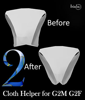 Cloth Helper for G2F and G2M 3D Figure Assets biala