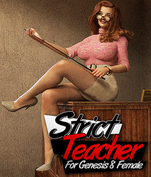 Strict Teacher For G8F 3D Figure Assets powerage